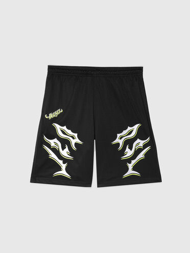 Boxing shorts with DSL embroidery