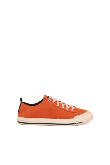 Low-top sneakers in tie-dye canvas