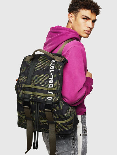 Diesel - VOLPAGO BACK, Green/Black - Backpacks - Image 8