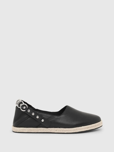 Convertible espadrilles in leather