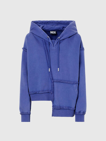 Cropped asymmetric hoodie