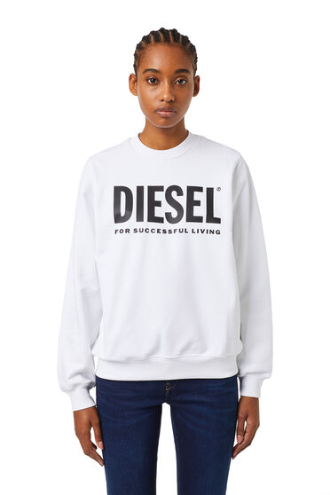 Logo sweatshirt in cotton fleece