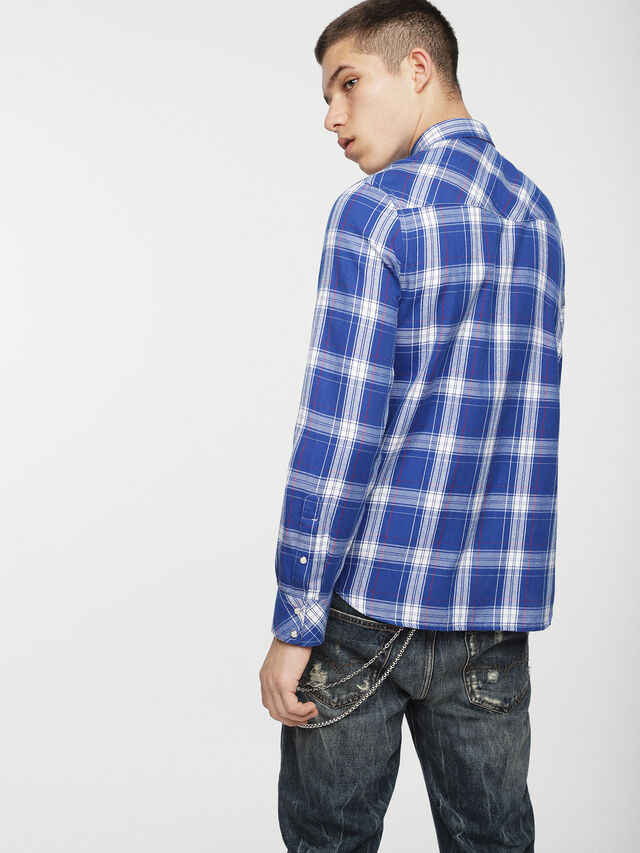 Diesel - S-EAST-LONG-C, Blue/White - Shirts - Image 2