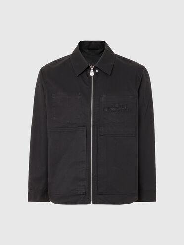 Overshirt in cotton twill