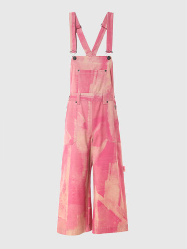 Dungarees with treated effect