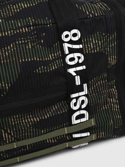 Diesel - M-CAGE DUFFLE M, Black/Green - Travel Bags - Image 4