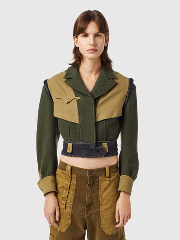 Green Label cropped military jacket