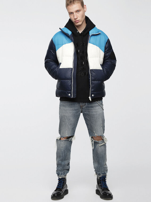 Diesel - W-SMITH-WH, Blue - Winter Jackets - Image 4