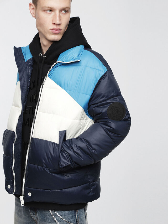Diesel - W-SMITH-WH, Blue - Winter Jackets - Image 1