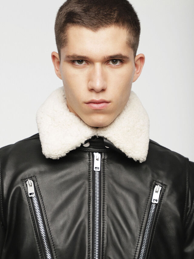 Diesel - L-NED, Black - Leather jackets - Image 6
