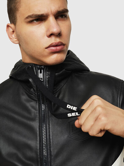 Diesel - L-CARR, Black - Leather jackets - Image 3