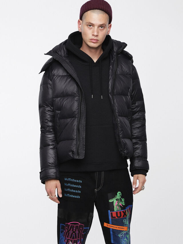 Diesel - W-SMITH-A, Black - Winter Jackets - Image 1