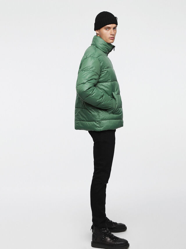 Diesel - W-SMITH-A-WH, Water Green - Winter Jackets - Image 4