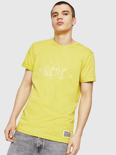 Diesel - T-DIEGO-CUT-A, Yellow - T-Shirts - Image 1