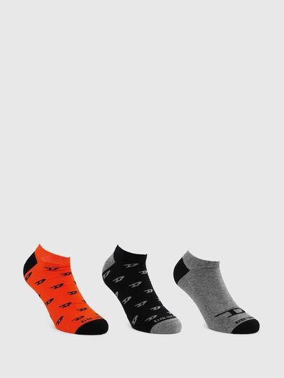 Diesel - SKM-GOST-THREEPACK, Black/Grey - Socks - Image 1