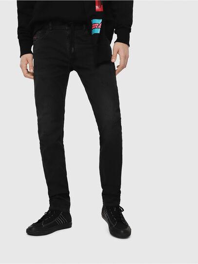 Diesel - Thommer JoggJeans 069FH, Black - Jeans - Image 1