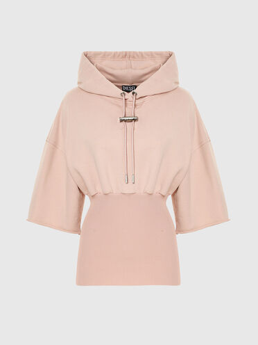 Hoodie with fitted hem