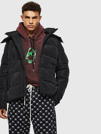 Diesel - W-SMITH-YA-WH, Black - Winter Jackets - Image 3