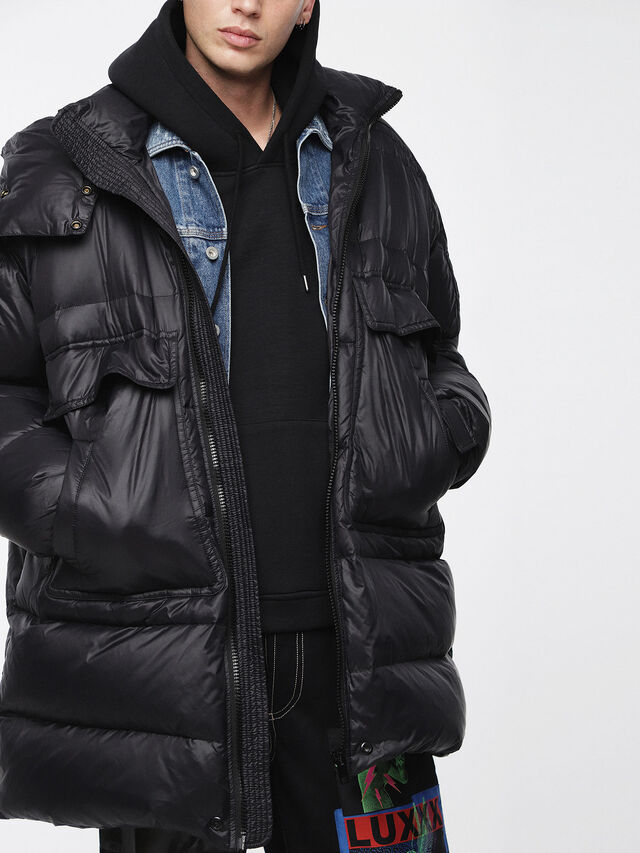 Diesel - W-ROGIN, Black - Winter Jackets - Image 3