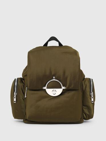 Nylon backpack with twist-lock