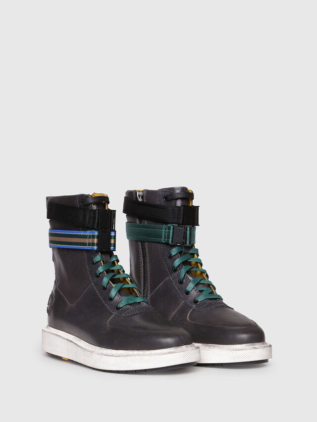 Diesel - H-CAGE HIGH ST, Opaque Black - Boots - Image 2