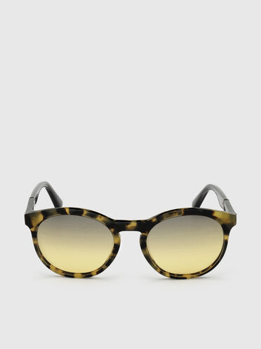 Unisex sunglasses with rounded silhouette