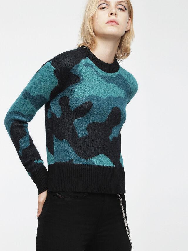 Diesel - M-PIC, Blue/Black - Knitwear - Image 1