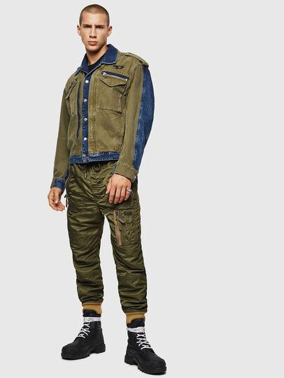 Diesel - D-MALLY, Blue/Green - Denim Jackets - Image 6