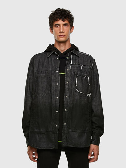 Diesel - D-NESKY, Black - Denim Shirts - Image 5