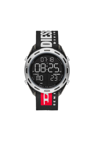 Crusher Digital Black Nylon Watch