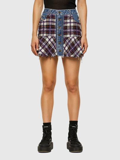 Diesel - O-BETH-BUCLE, Blue/Violet - Skirts - Image 1