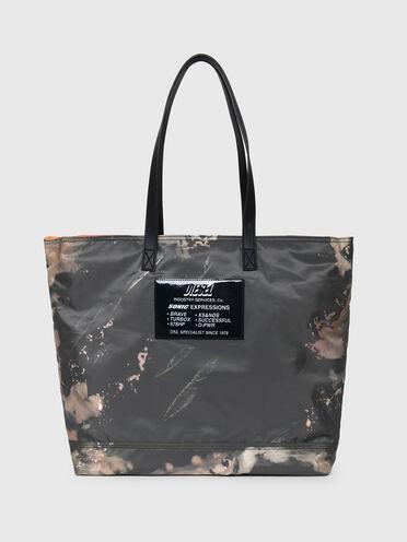 Shopper in bleached-effect shell