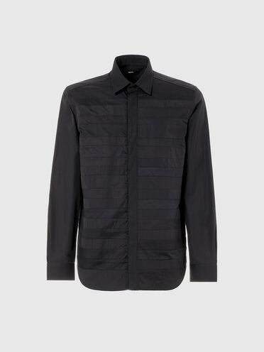 Shirt in mixed materials