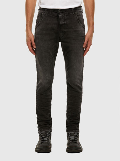 Diesel - Krooley JoggJeans 009FZ, Black/Dark grey - Jeans - Image 1