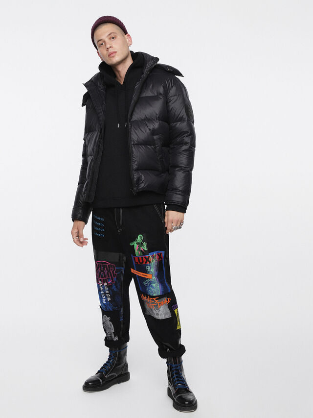 Diesel - W-SMITH-A, Black - Winter Jackets - Image 4