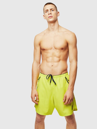 Diesel - BMBX-TUNA, Green Fluo - Swim shorts - Image 1