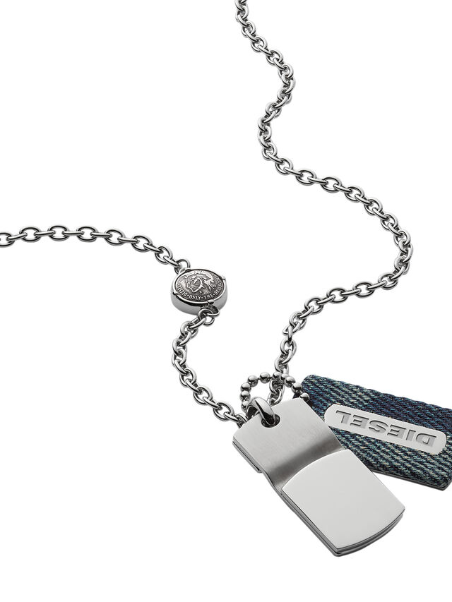 Diesel - NECKLACE DX0980, Blue Jeans - Necklaces - Image 2