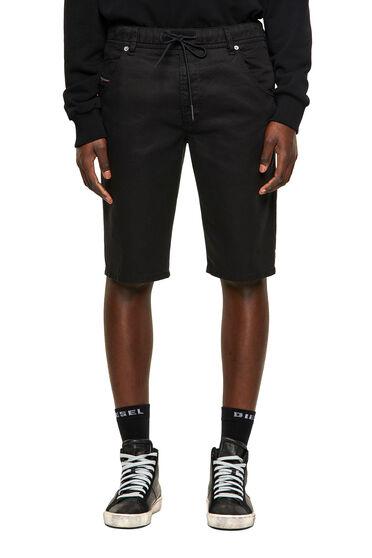 Slim shorts in overdyed JoggJeans®