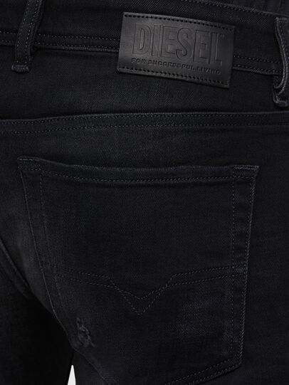 Diesel - Sleenker 0092B, Black/Dark grey - Jeans - Image 4