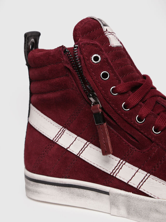 Diesel - D-VELOWS MID LACE, Red - Sneakers - Image 4
