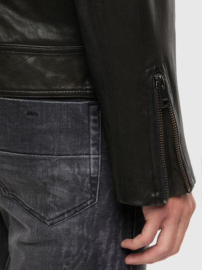 Diesel - L-LUC, Black - Leather jackets - Image 4