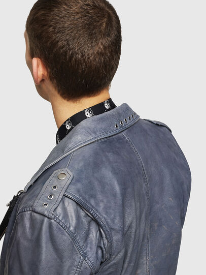 Diesel - L-KIOV, Blue - Leather jackets - Image 6
