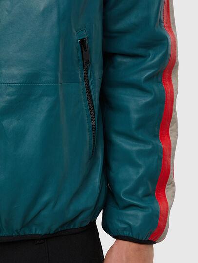 Diesel - L-MATHIAS, Water Green - Leather jackets - Image 4