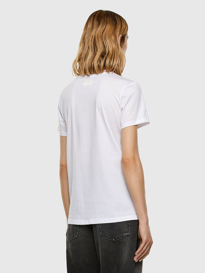 Diesel - T-SILY-E53, White - T-Shirts - Image 6