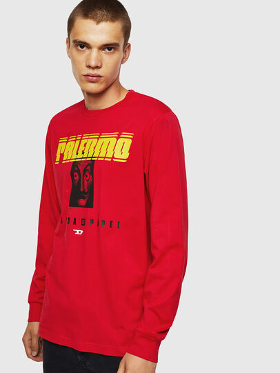 Diesel - LCP-T-JUST-LS-PALERM, Red - T-Shirts - Image 1