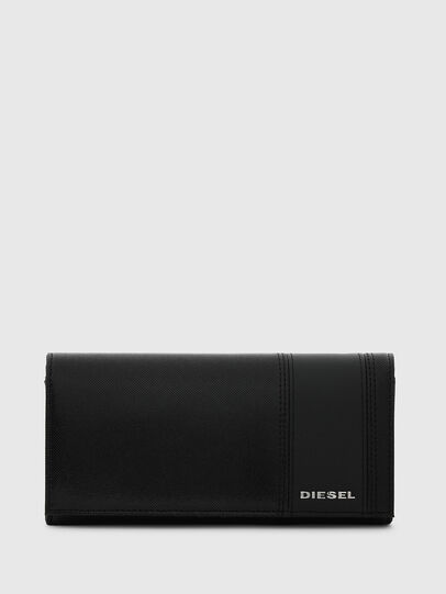 Diesel - 24 A DAY, Black - Continental Wallets - Image 1