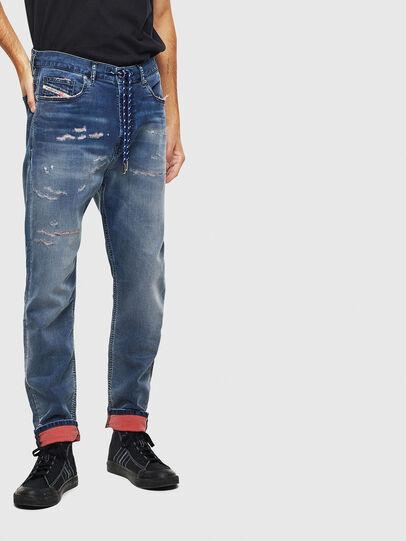 Diesel - D-Vider JoggJeans 069LW, Dark Blue - Jeans - Image 1