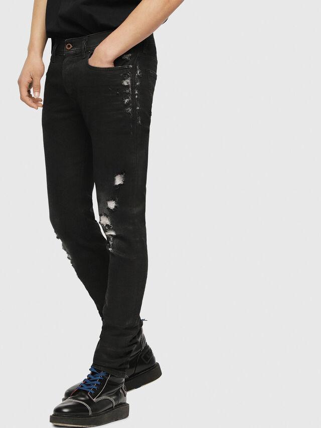 Diesel - Sleenker 084YT, Black/Dark grey - Jeans - Image 3