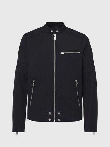 Cotton-blend biker jacket