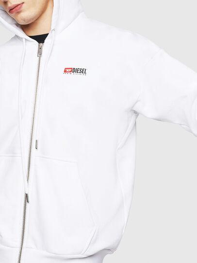 Diesel - S-ALBY-ZIP-DIV, White - Sweaters - Image 3